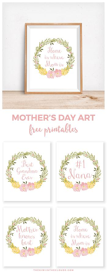 Mothers Day Printables - The Kiwi in the Clouds