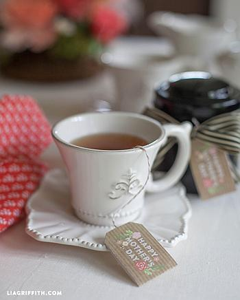 Printable Mother's Day Tea Tags - Lia Griffith